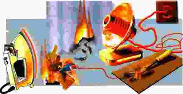 Соблюдайте правила пожарной безопасности при эксплуатации электрооборудования!