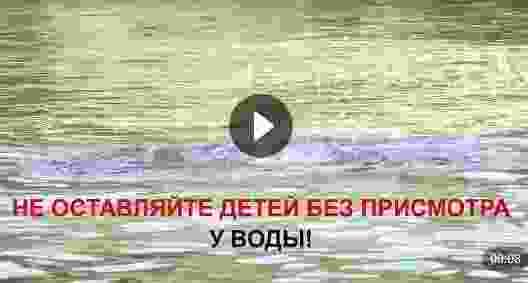 Не оставляйте детей у воды без присмотра (видео)